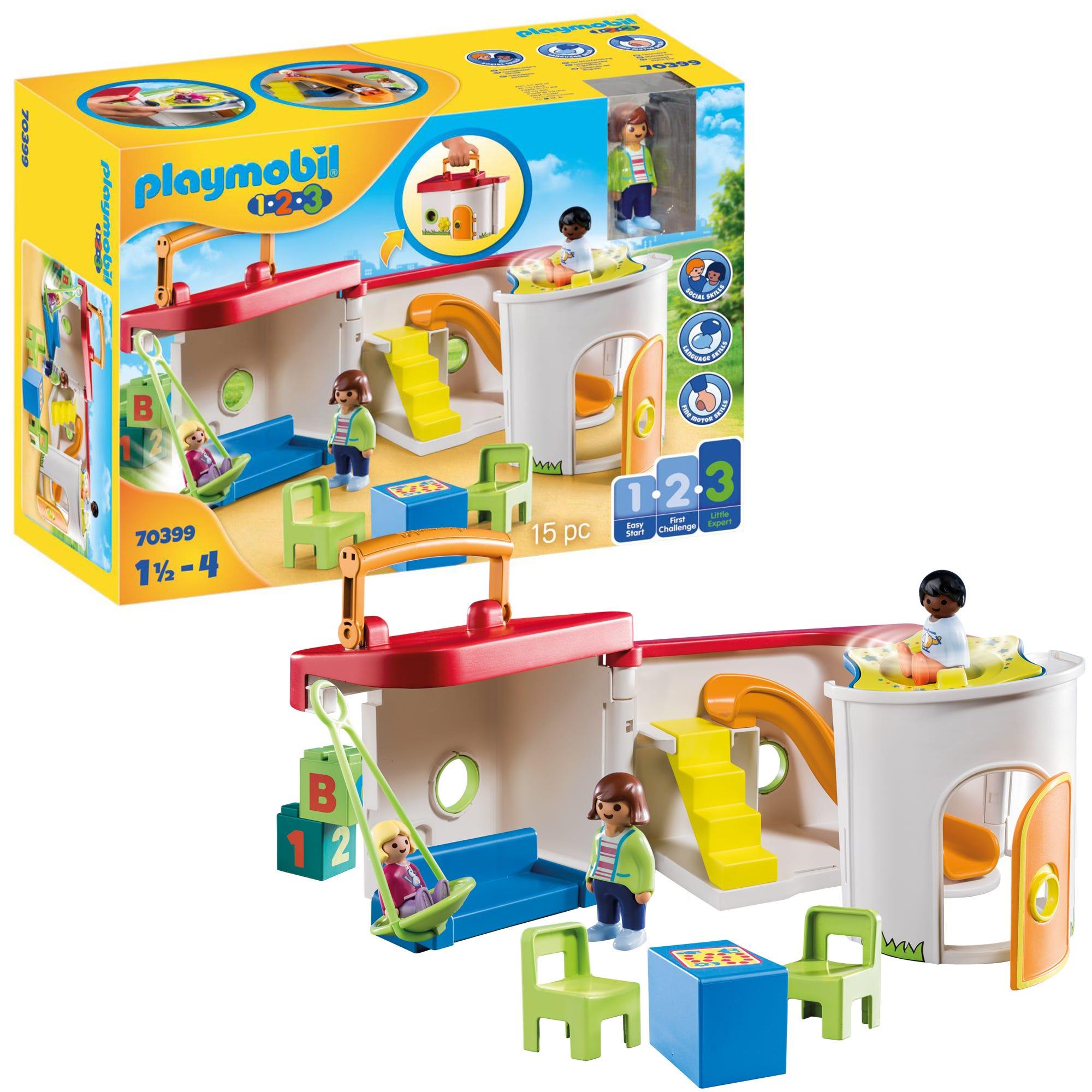Playmobil 1.2.3 70399 My Take Along Preschool For 18+ Months
