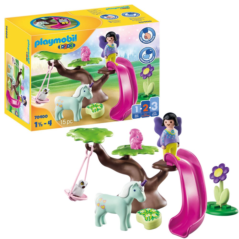 Playmobil 1.2.3 70400 Fairy Playground For 18+ Months