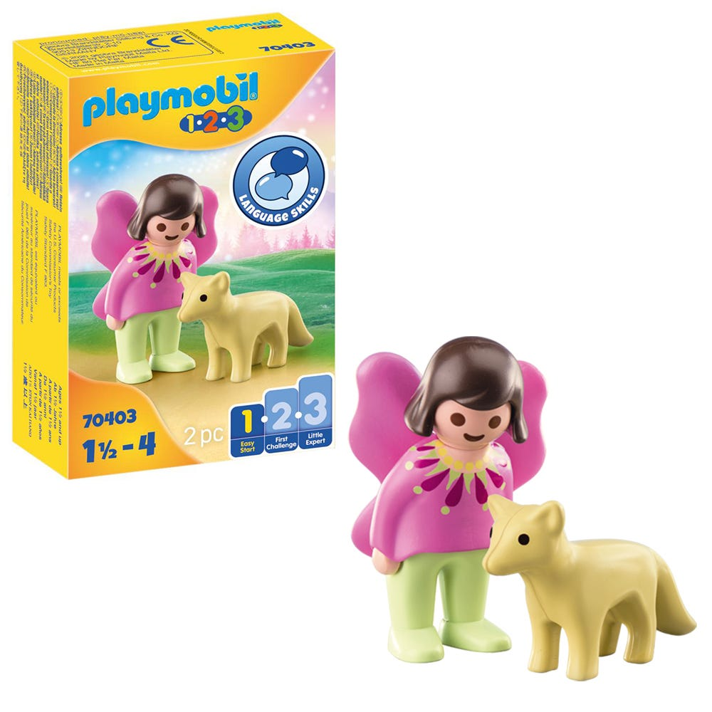 Playmobil 1.2.3 70403 Fairy Friend With Fox For 18+ Months