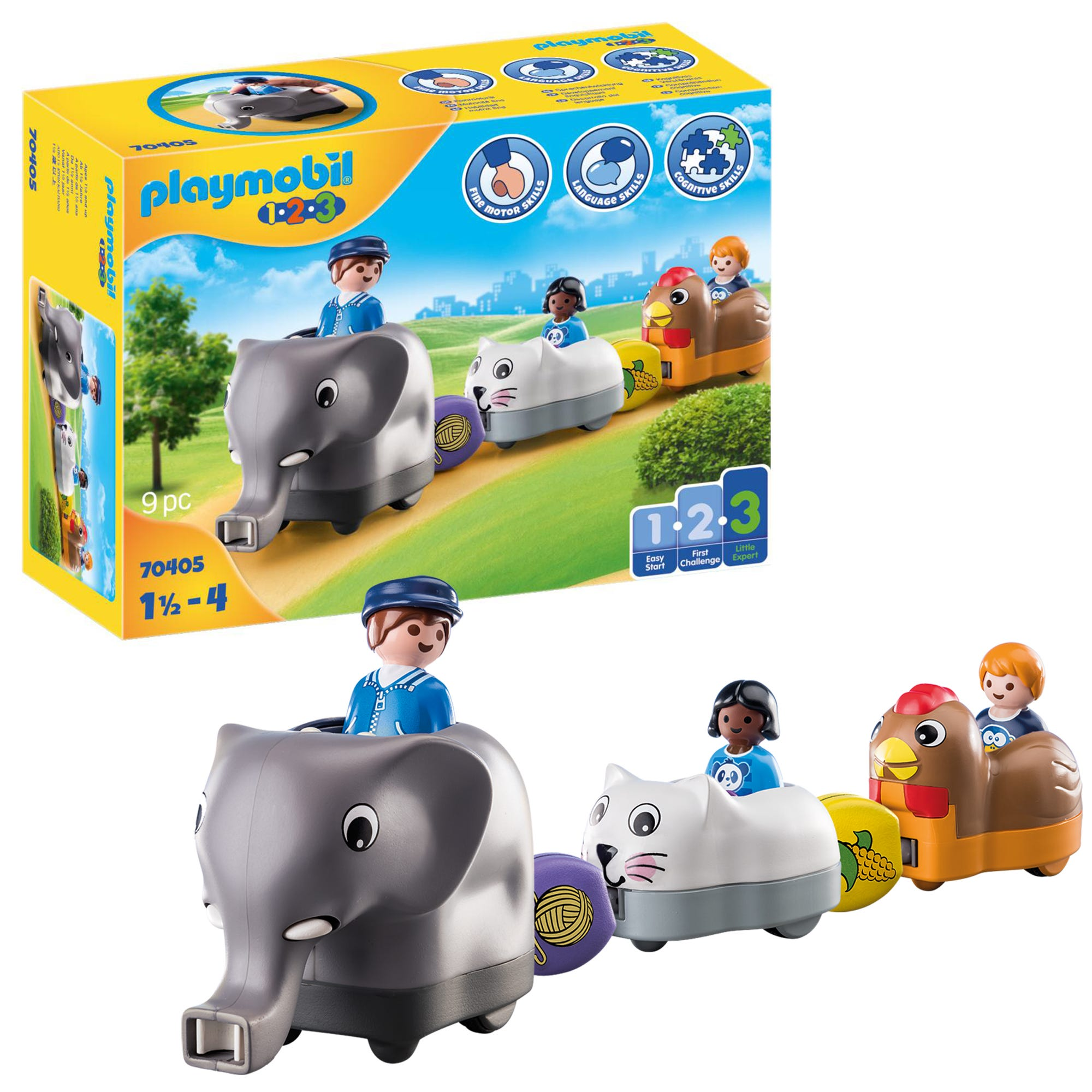 Playmobil 1.2.3 70405 Animal Train For 18+ Months