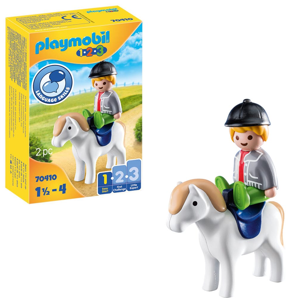 Playmobil 1.2.3 70410 Boy With Pony For 18+ Months