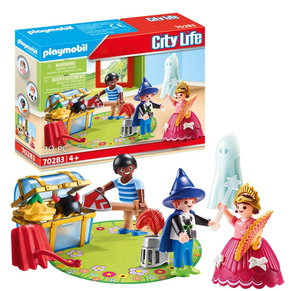 Playmobil 70283 City Life Pre School Children With Costumes