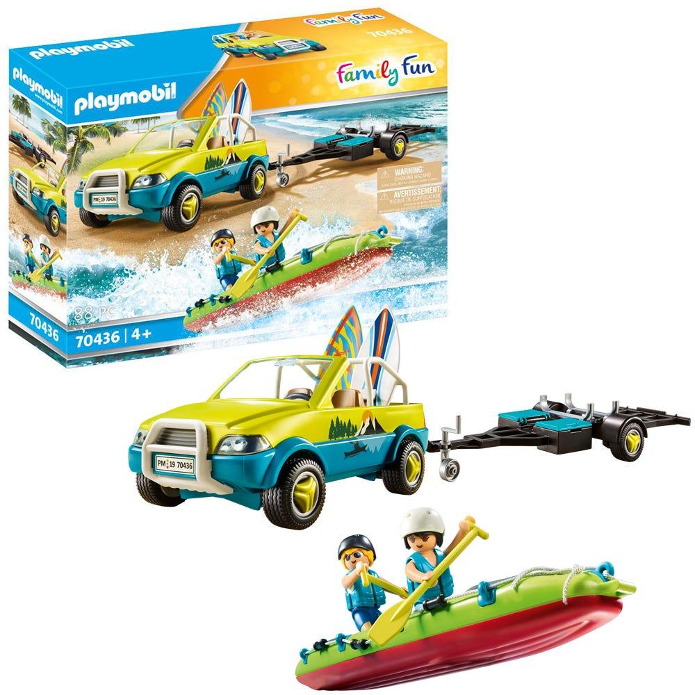 Playmobil 70436 Family Fun Beach Hotel Beach Car With Canoe