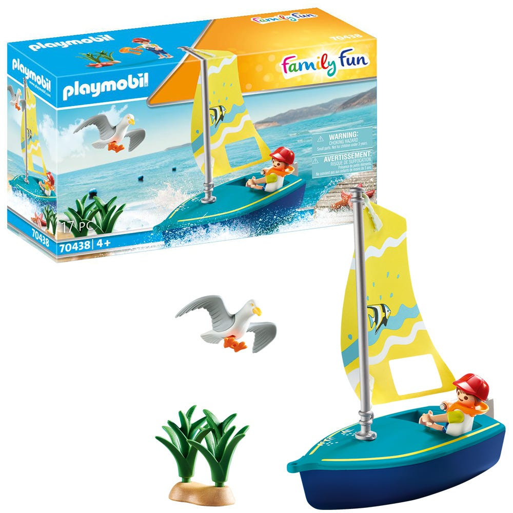 Playmobil 70438 Family Fun Beach Hotel Sailboat