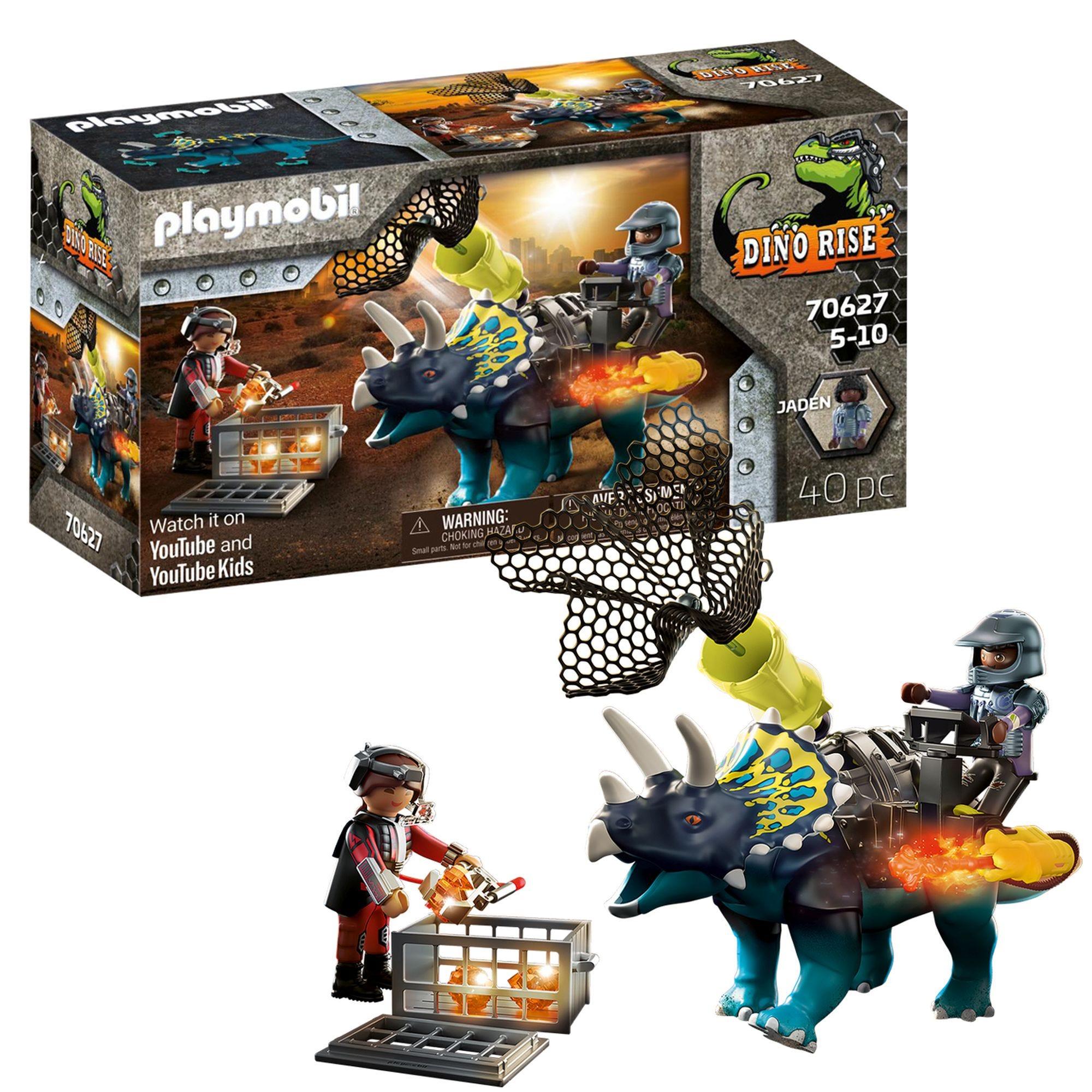 Playmobil 70627 Dino Rise Triceratops: Battle For The Legendary Stones