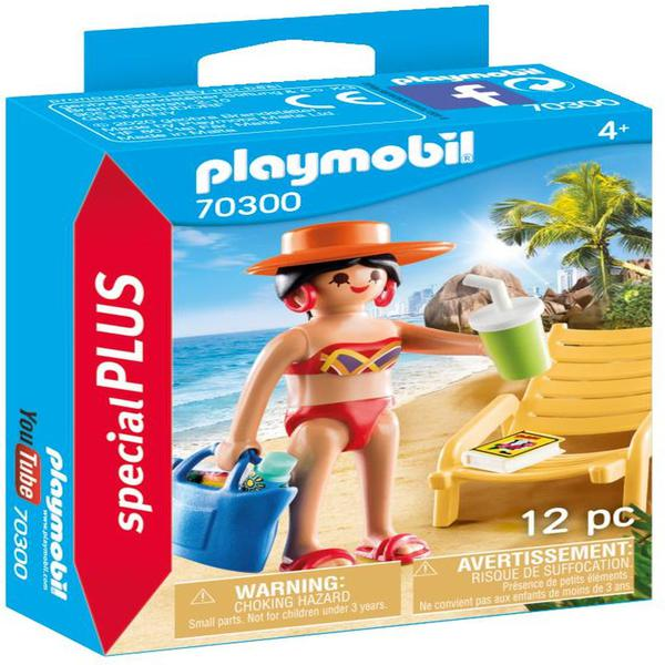 Playmobil 70300 Special Plus Sunbather With Lounge Chair