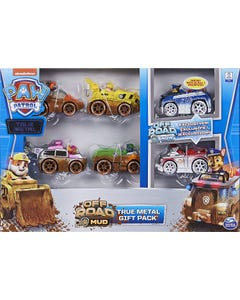 PAW Patrol True Metal Off-Road Gift Pack of 6 Collectible Die-Cast Vehicles, 1:55 Scale