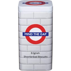 Mind The Gap London Underground Tin Filled With Shortbread Biscuits