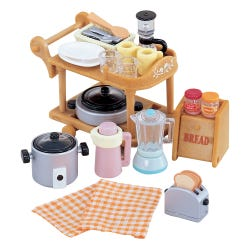 Sylvanian Families Kitchen Cookware & Trolley Set