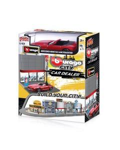 143 Street Fire Bburago City Car Dealer Incl. 1 Car