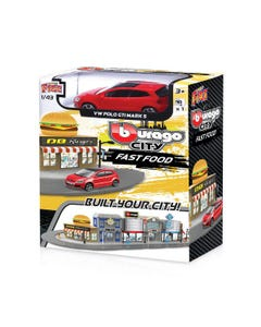 143 Street Fire Bburago City Fast Food Incl. 1 Car