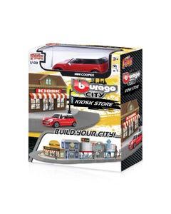 143 Street Fire Bburago City Kiosk Store Incl. 1 Car