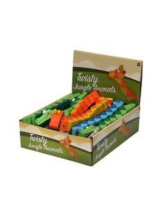 Wood Twisty Jungle Animals