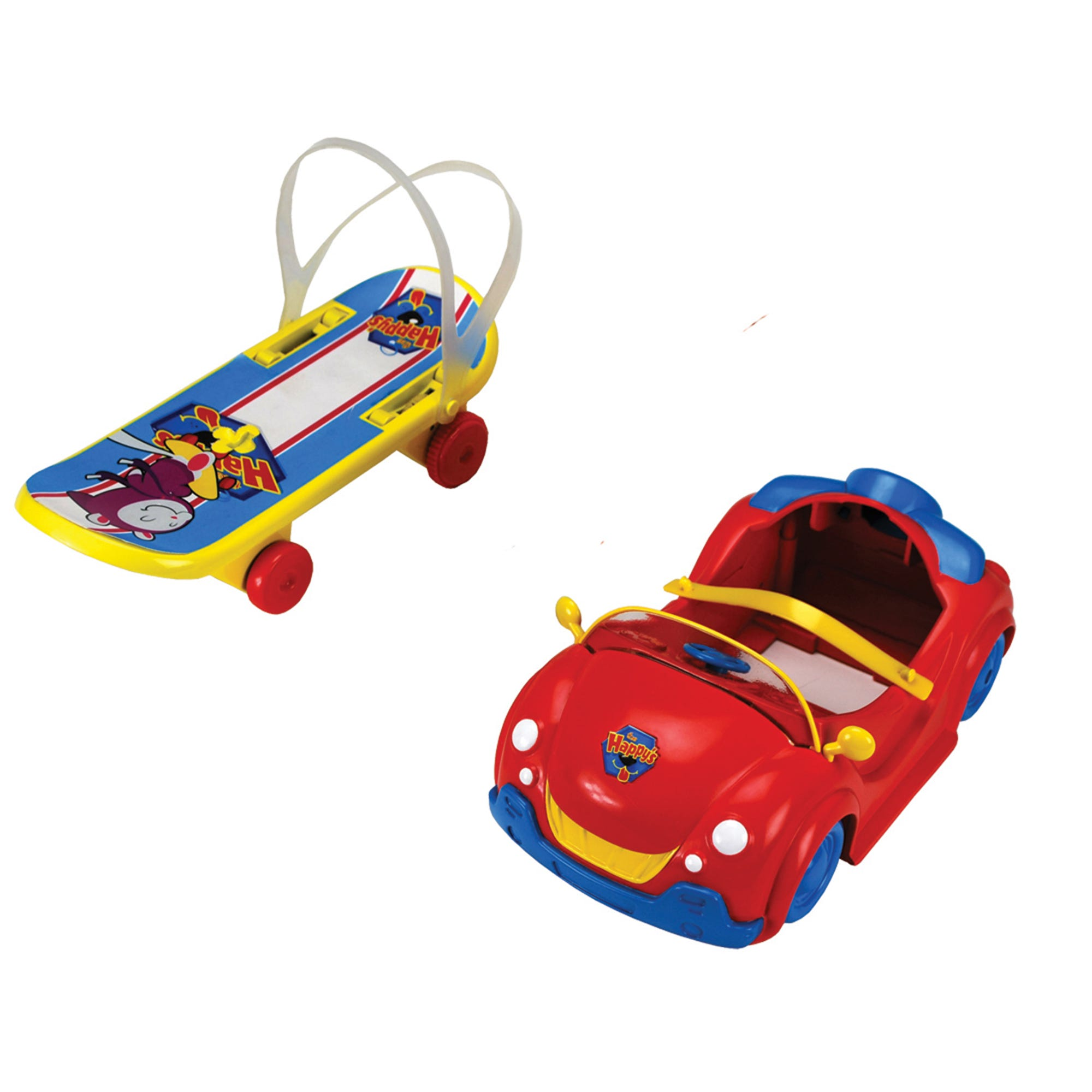 The Happys Ride On Accessories Car & Skateboard Assortment