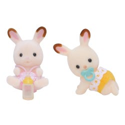 Sylvanian Families Chocolate Rabbit Twin Babies