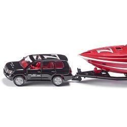 Siku 1:55 Die Cast Car With Motorboat