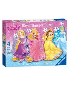 Ravensburger Disney Princess 4 Large Shaped Puzzles