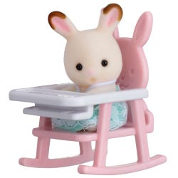 Sylvanian Families Rabbit Baby On Chair Carry Case