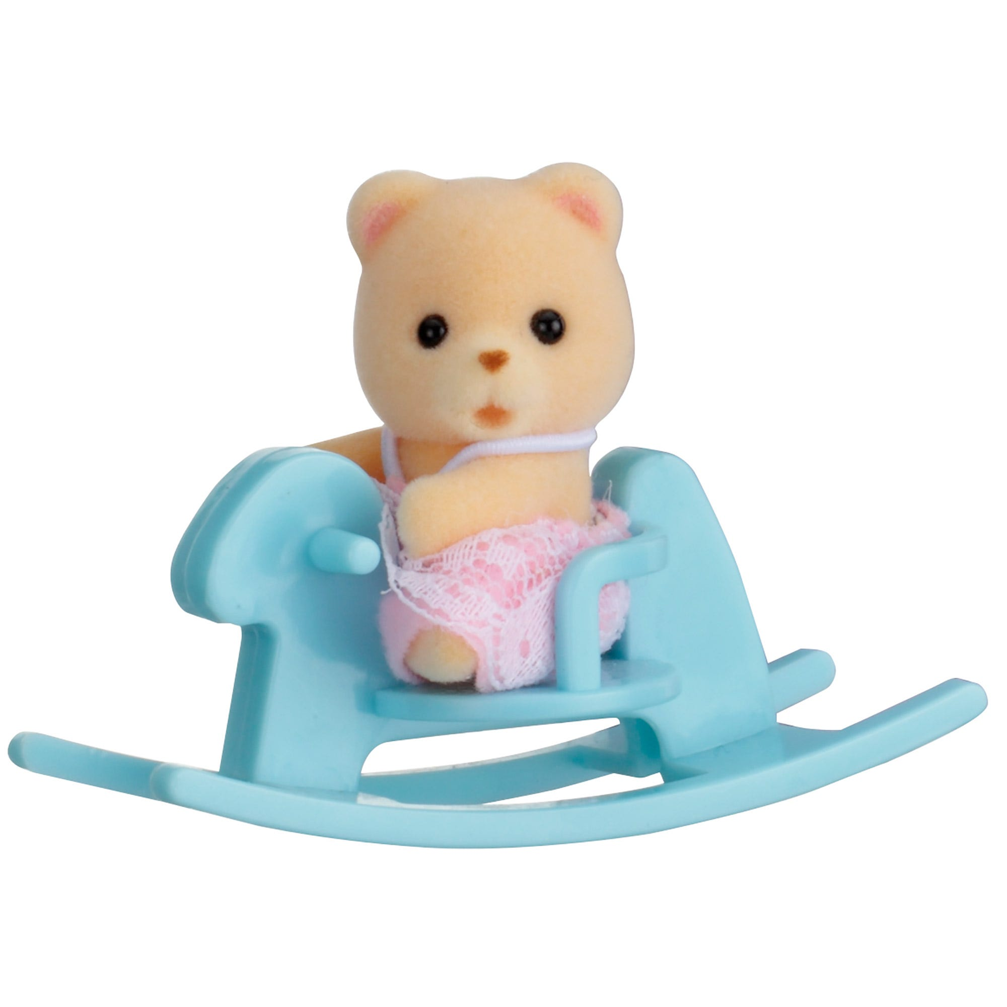 Sylvanian Families Bear Baby On Rocking Horse Carry Case