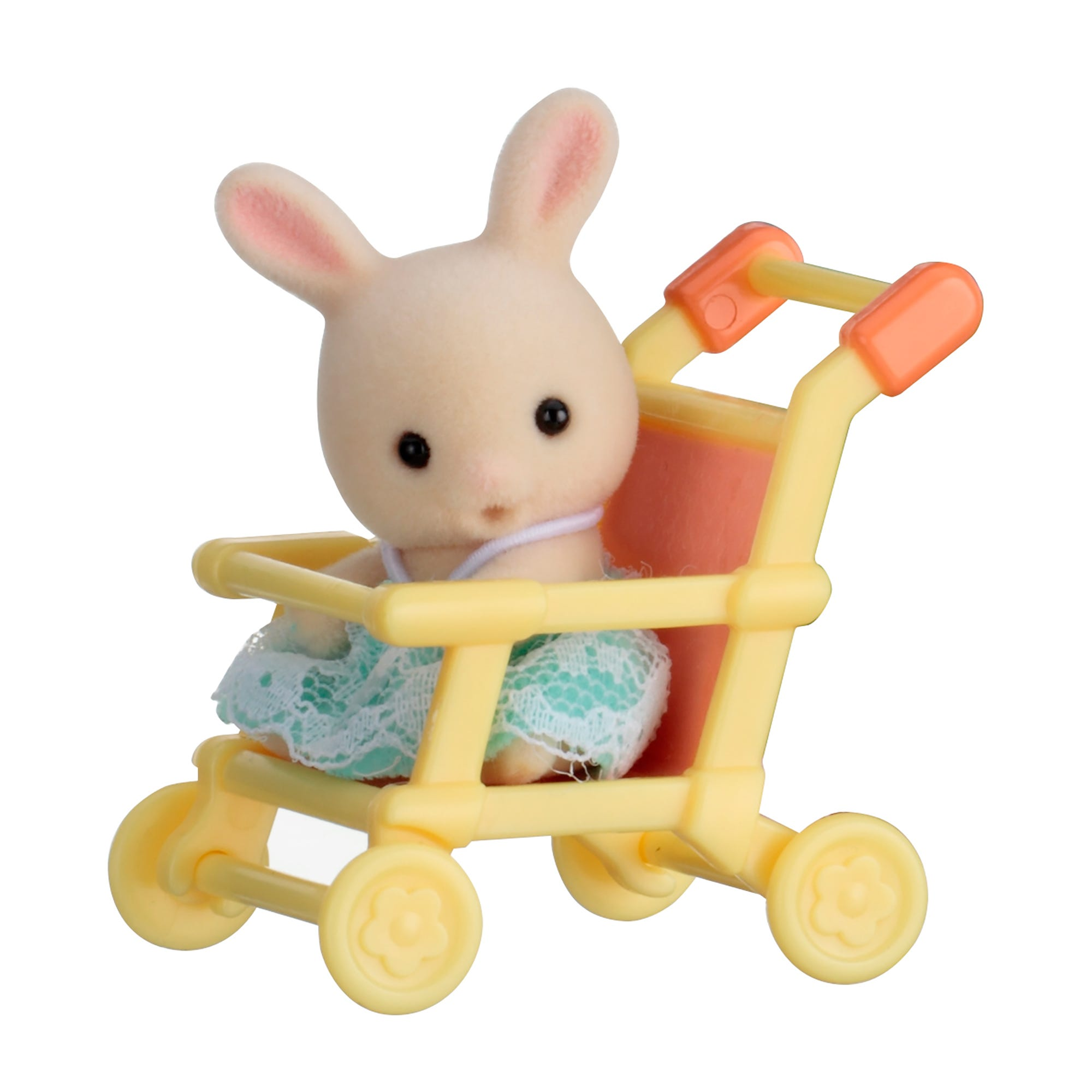 Sylvanian Families Rabbit Baby On Pushchair Carry Case