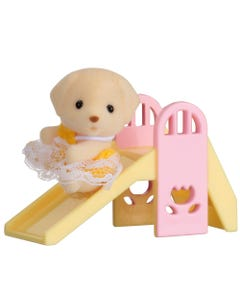Sylvanian Families Dog Baby On Slide Carry Case