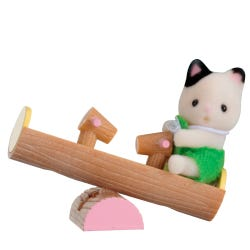 Sylvanian Families Cat Baby On See-Saw Carry Case