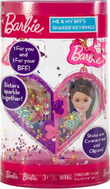 Barbie You Can Be Anything Bff Shaker Keyring